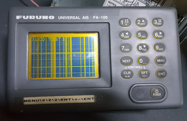Furuno FA-100 AIS Display Fault and Repair After